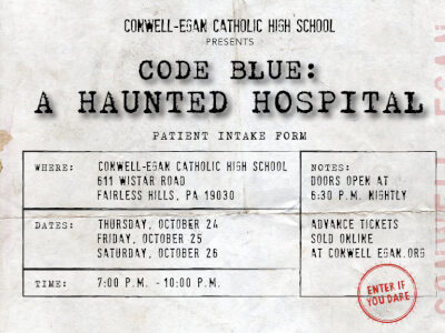 CEC Presents - Code Blue: A Haunted House