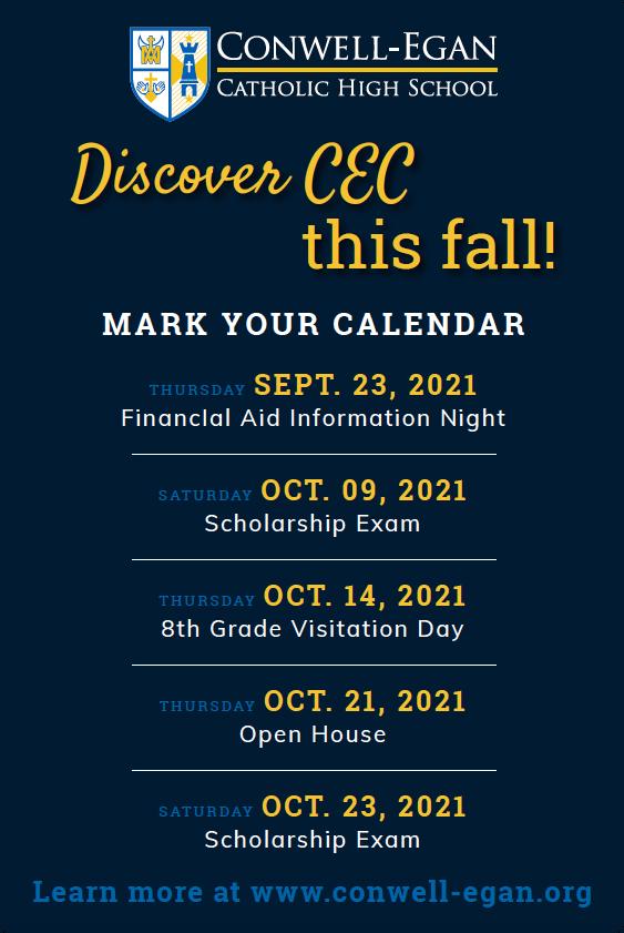 Admissions Calendar