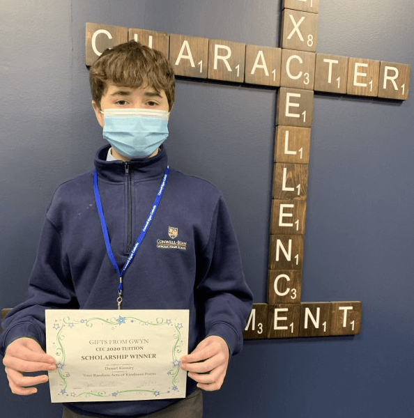 Congratulations to Daniel Kinniry '24, this year's Gifts from Gwyn Recipient!